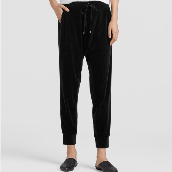 Eileen Fisher Pants - Eileen Fisher Stretch Velvet Drawstring Pants